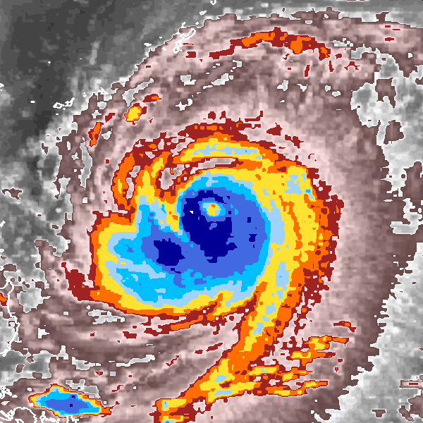 This dramatic imaged from the Cyclone Center shows the extremely powerful and destructive Super Typhoon Fred, which made landfall in Southern China during the 1994 season.