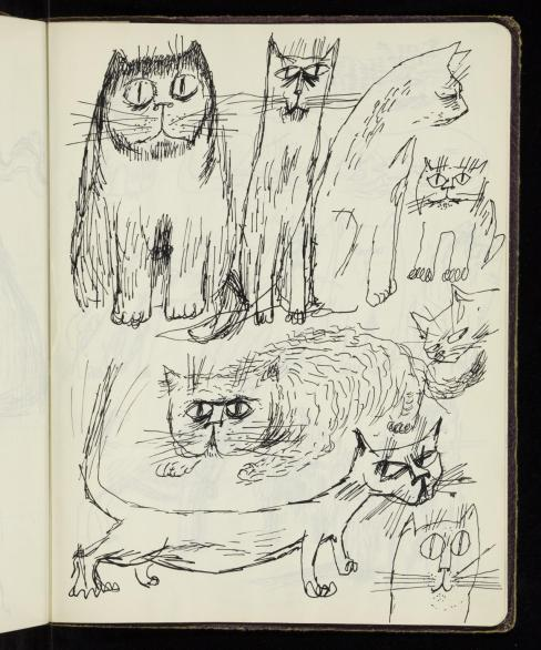 Study of eight cats 1953-4 James Boswell 1906-1971 Presented by Ruth Boswell, the artist's widow in 1982 http://www.tate.org.uk/art/archive/TGA-8224-54-35